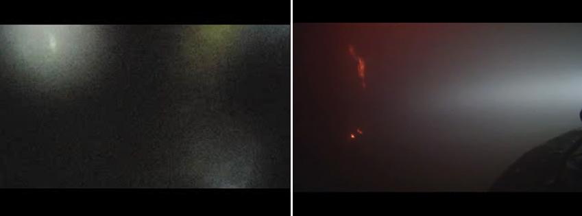 실제 화재 현장 진입 영상 캡처 화면. 시야가 온통 뿌옇게 돼 한 치 앞도 보이지 않습니다