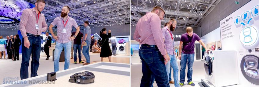 파워봇 부스와 애드워시 세탁기는 특히 남성 관람객의 인기를 끌었다.