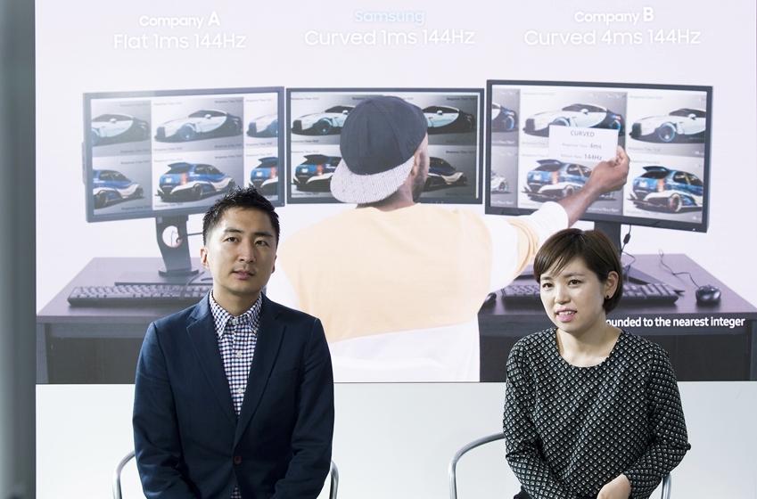 . CFG70 마케팅 담당자 고향<위 사진 오른쪽> 삼성전자 VD사업부 엔터프라이즈비즈니스팀 대리