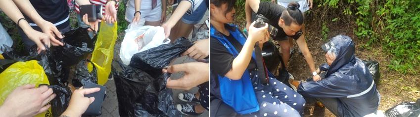 남한산성에서 1박2일간 진행된 촬영 당시 회원들은 촬영 현장 주변에 버려진 쓰레기를 직접 주우며 환경보호를 몸소 실천하기도 했습니다.