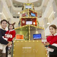 삼성 세리프 TV로 특별한 연말 맞이하세요