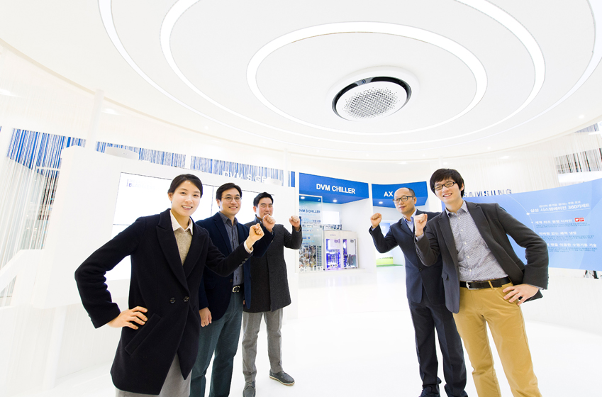 삼성전자 생활가전사업부 전략마케팅팀원들