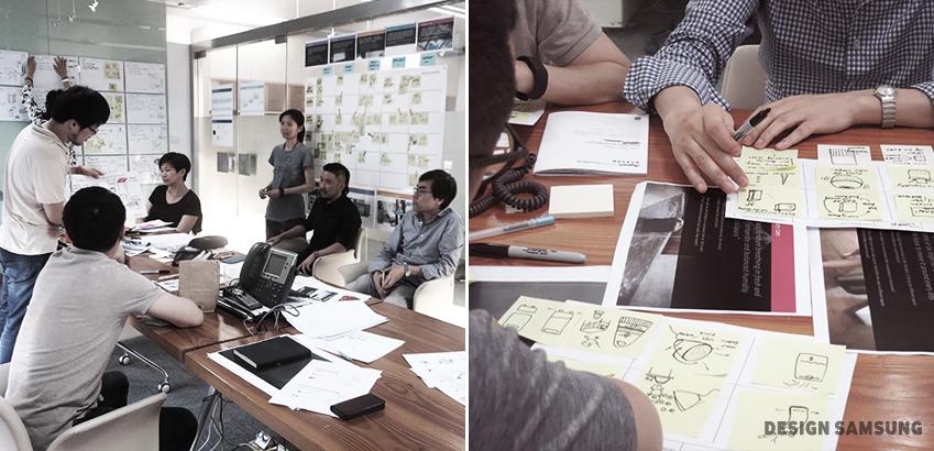 디자이너 들이 회의 중 이다. , 디자인 도안