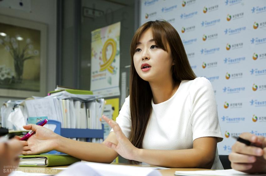 중앙아동보호전문기관 김예은 간사 인터뷰 사진