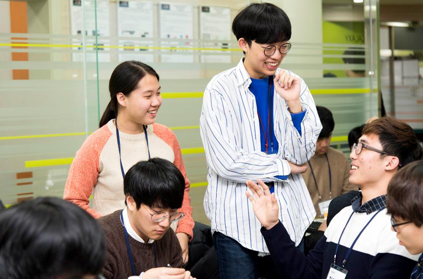 미니 SCPC 코딩대회 참가 학생들