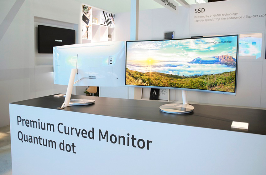 Premium Curved Monitor Quantum dot