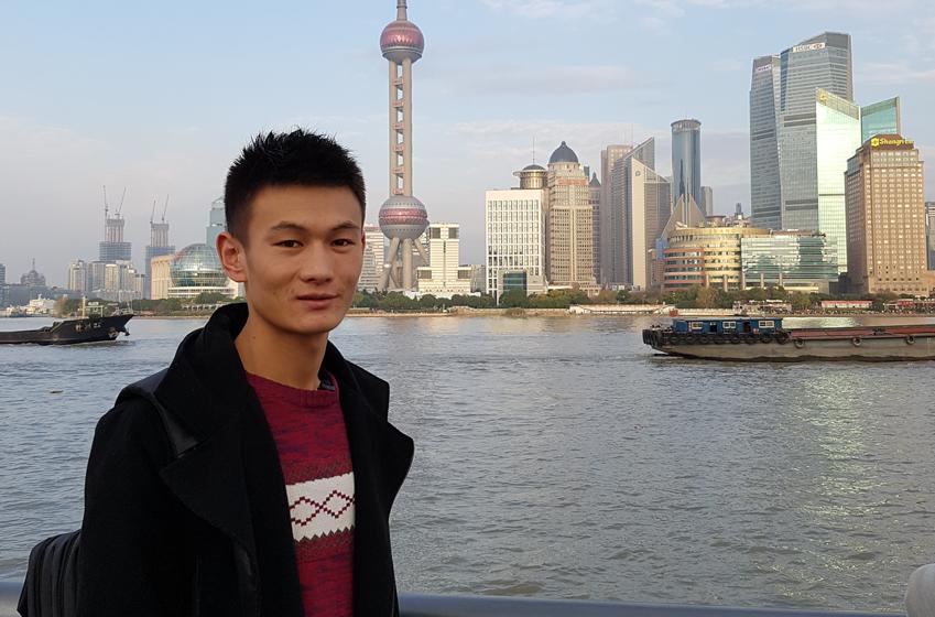 천츠화씨의 중국 인터뷰 사진