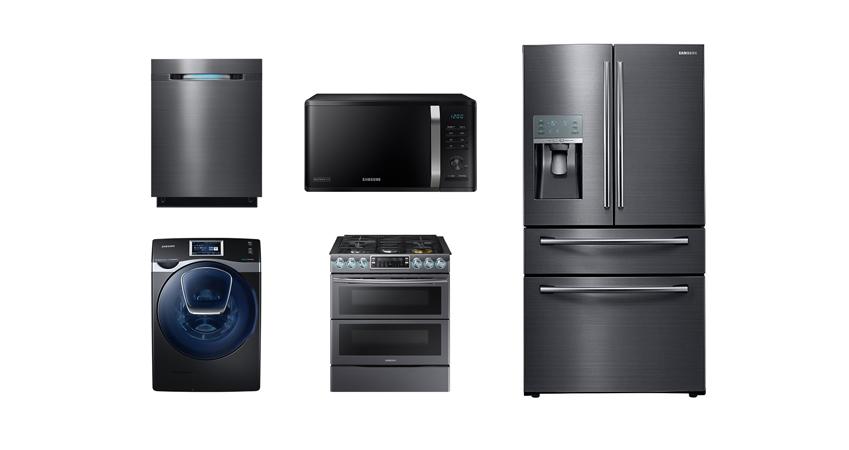 삼성전자의 가스레인지 , 냉장고 , 세탁기 , 전자레인지