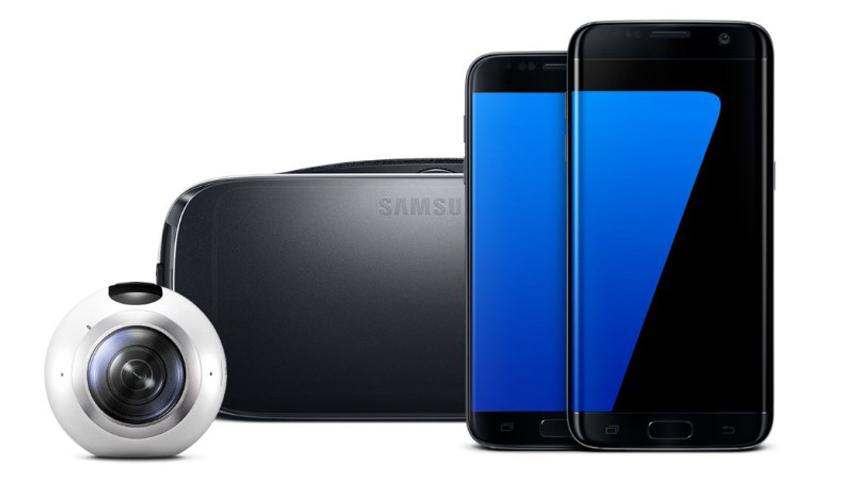 최신 모바일 기기 갤럭시 S7과 기어 VR 기어 360