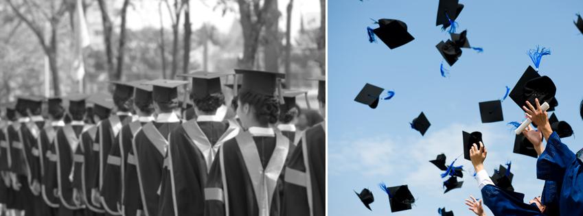 옛날과 오늘날 졸업식 사진