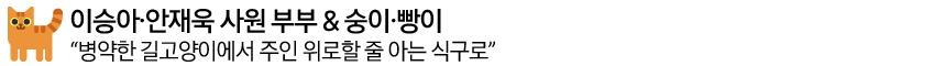 이승아-안재욱 사원 부부 & 숭이,빵이