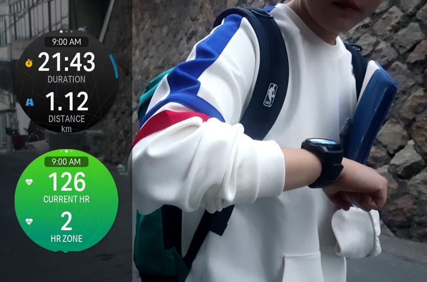 활동량이 궁금해 기어 S3로 언더아머레코드에서 걷기 운동을 측정해봤다