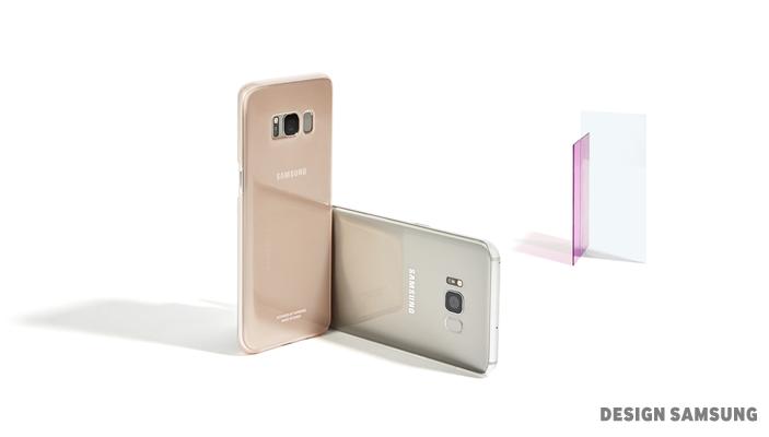 반투명 클리어 커버는 갤럭시 S8 기기 색상과 만나 예상치 못했던 아름다움을 탄생시킵니다.