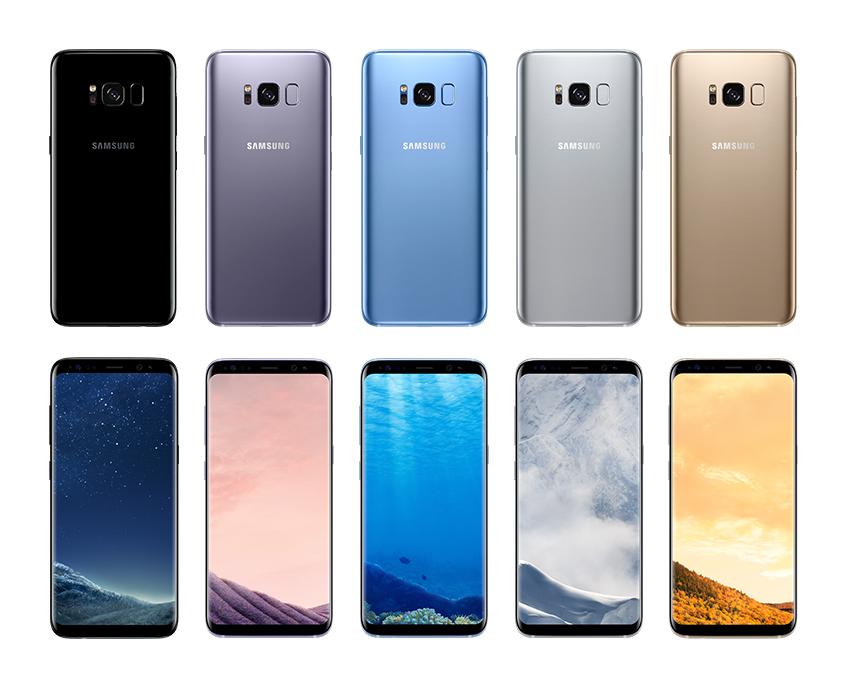 갤럭시 S8은 안정적인 완벽대칭 디자인에 5가지 세련된 색상으로 선보입니다