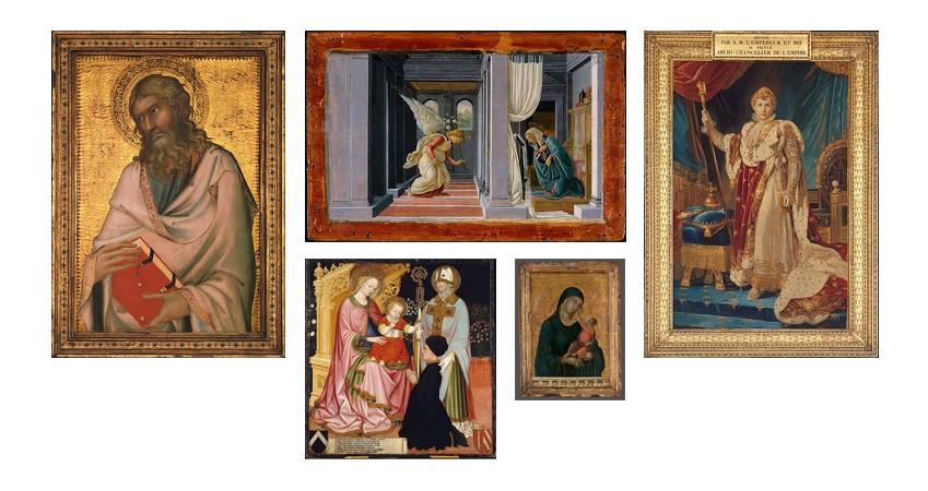 전 세계 유명 미술관에서발견할 수 있는, 다양한 형태의액자들