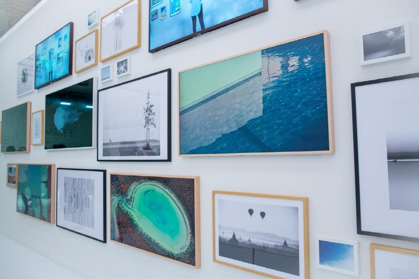 3월 15일 프랑스 파리 루브르박물관 QLED TV 론칭 행사장 모습
