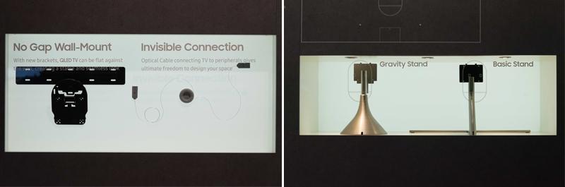 종류별 TV 액세서리가 실제 인테리어 환경에 적용된 모습
