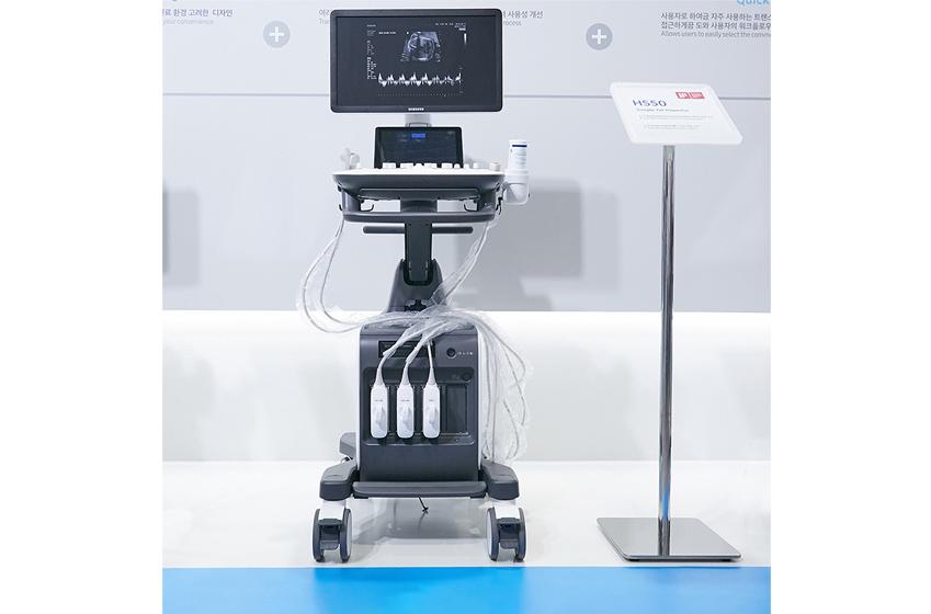 초음파 촬영 기기인 HS50