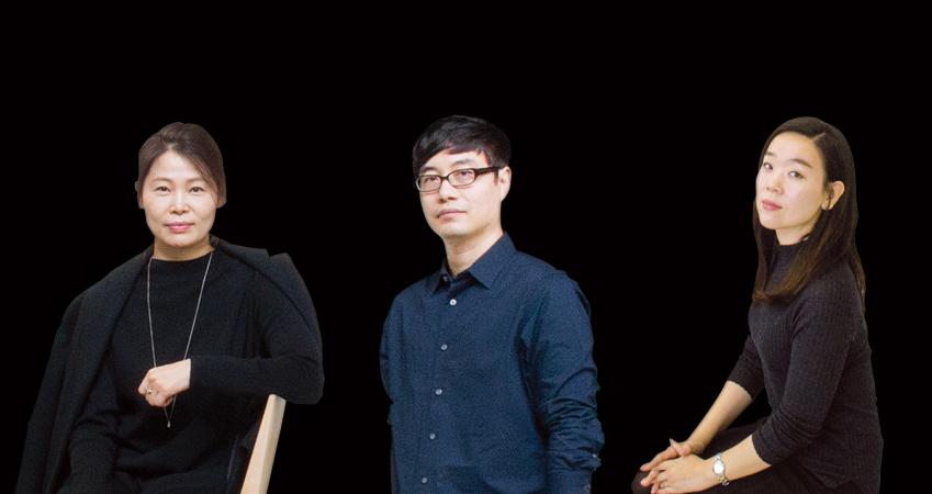 갤럭시 S8 디자인을 담당한 박형신·최혁수·김윤진씨(모두 삼성전자 무선사업부 디자인팀)<왼쪽부터>