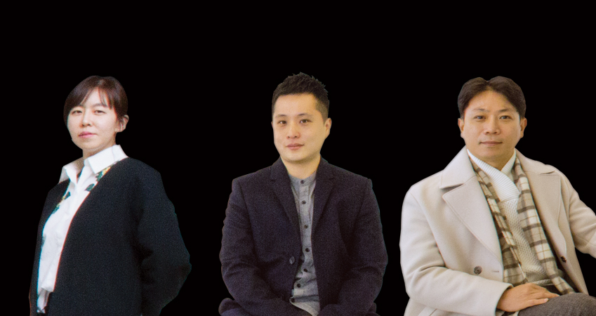 갤럭시 S8 디자인을 담당한 방혜진·전환주·정종윤씨(모두 삼성전자 무선사업부 디자인팀)<왼쪽부터>
