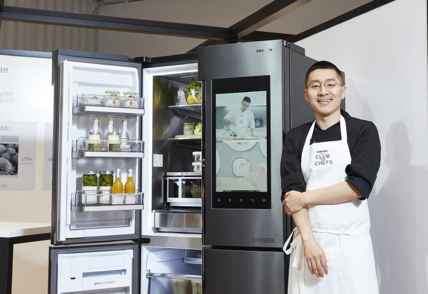 셰프컬렉션 패밀리허브는 가정용 냉장고이지만 셰프들이 레스토랑에서 사용하기에도 전혀 부족하지 않은 성능을 갖췄다