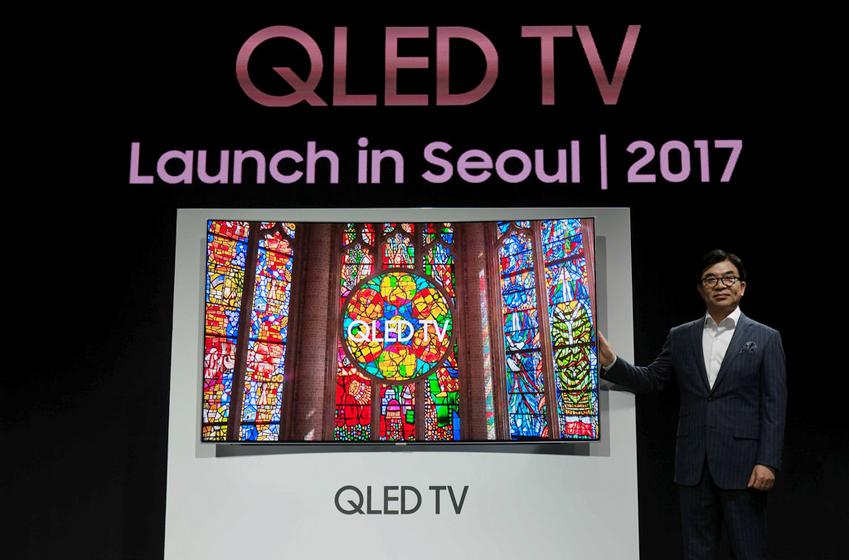 QLED TV 론칭 현장 사진입니다