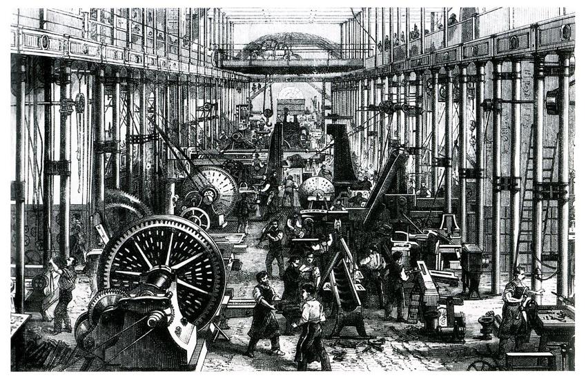 19세기 공장 이미지입니다