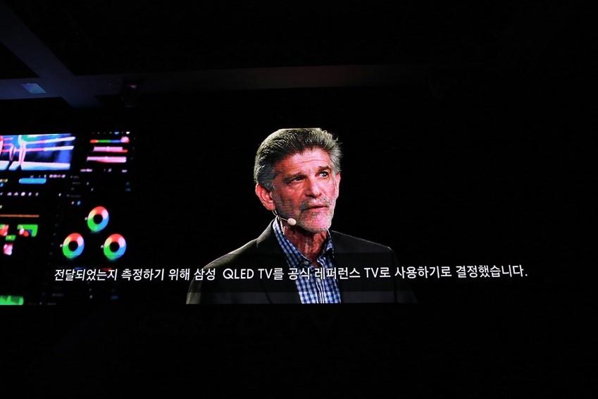 전달되었는지 측정하기 위해 삼성 QLED TV를 공식 레퍼런스 TV로 사용하기로 결정했습니다