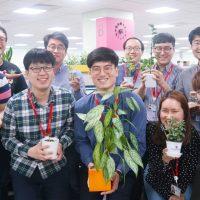 사무실에 녹색 정원이 활짝… 삼성전자 임직원의 특별한 식물 사랑