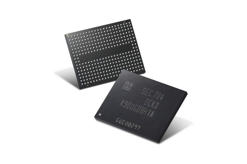 반도체 사진, 삼성전자 '4세대(64단) 256Gb 3bit V낸드'(3차원 수직구조 낸드, 3D Vertical NAND) 칩