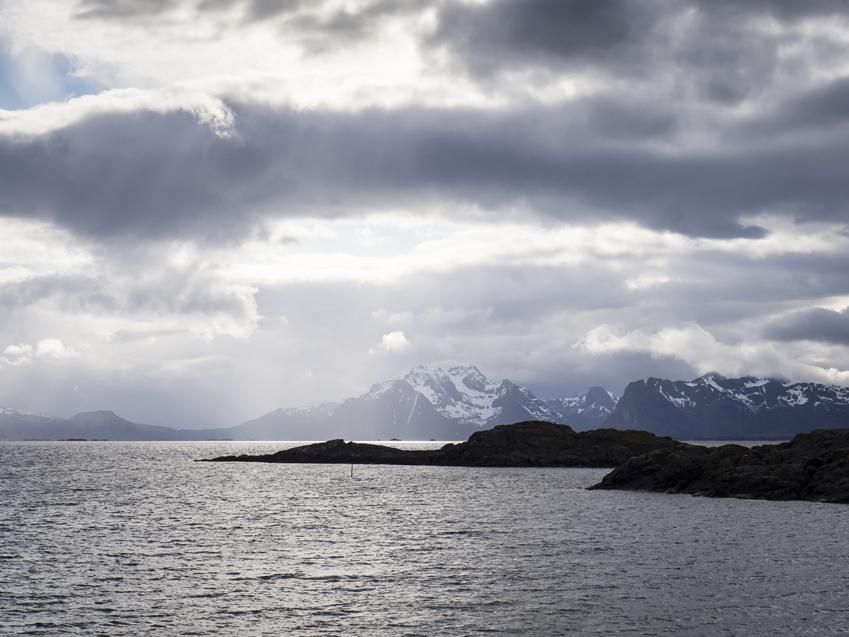 북유럽 풍경 바다와 섬