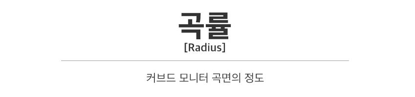 곡률[Radius], 커브드 모니터 곡면의 정도