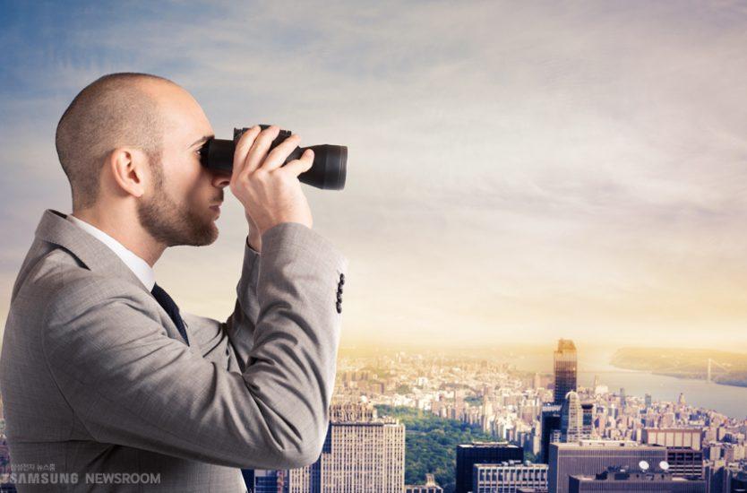 만원경으로 관찰하는 관찰자