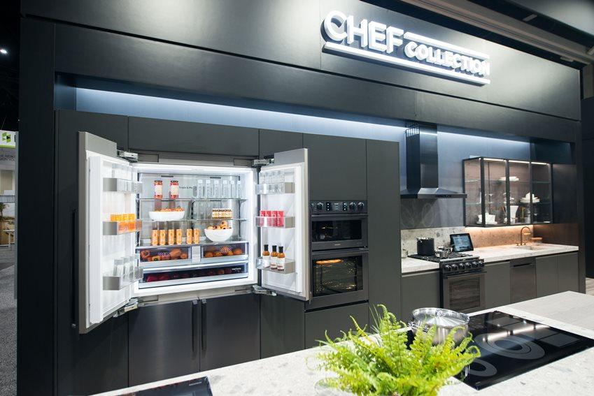 냉장•냉동모드 전환을 할 수 있는 '플렉스 존'을 탑재한 4문형 프렌치도어 냉장고