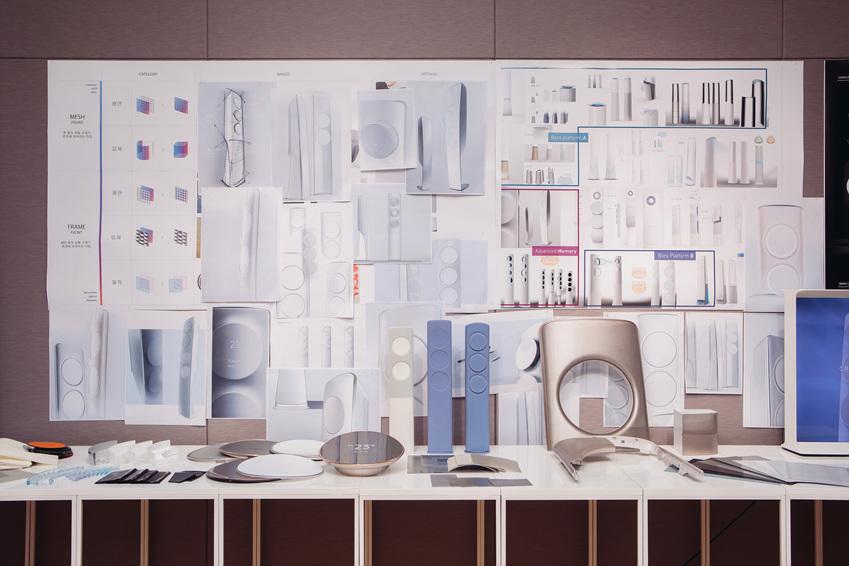 무풍에어컨 디자인 부품들