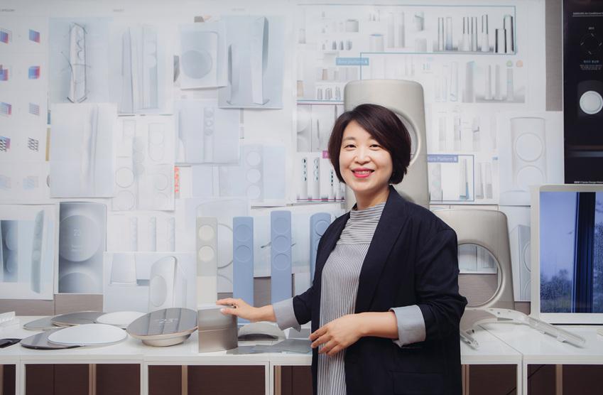 ▲ 무풍에어컨 개발과 디자인에 직접 참여한 삼성전자 생활가전 사업부 송현주 상무