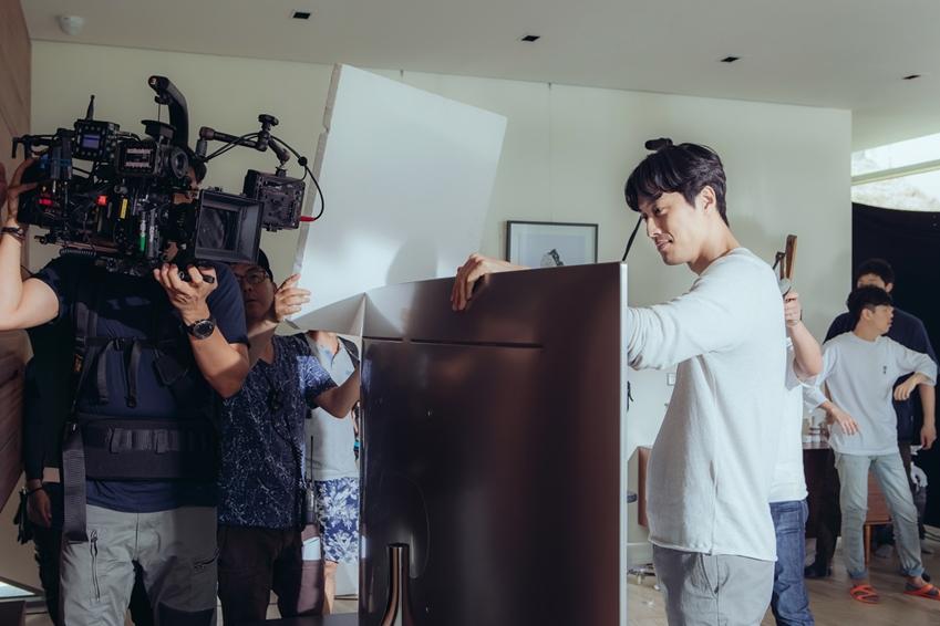 QLED TV CF 촬영현장 배우