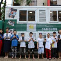 삼성전자, '모바일 교육 버스'로 미얀마 어린이들의 미래 꿈 이어 나간다