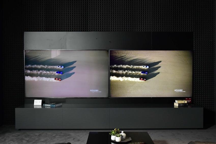 ▲일반화면 (왼쪽) 과 HDR10+가 적용된 화면(오른쪽