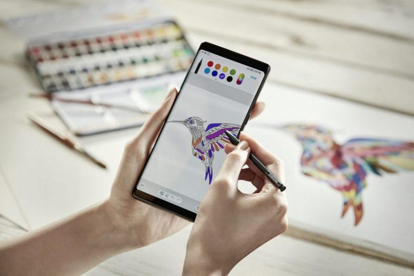 갤럭시 노트8 Pen Coloring
