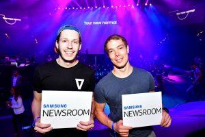 독일 유명 블로그 '올 어바웃 삼성(All About Samsung)' 을 운영하는 라스 지벤하(Lars Siebenhaar, 오른쪽)