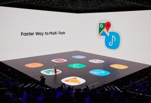 갤럭시 노트8 언팩 행사장 앱페어 설명