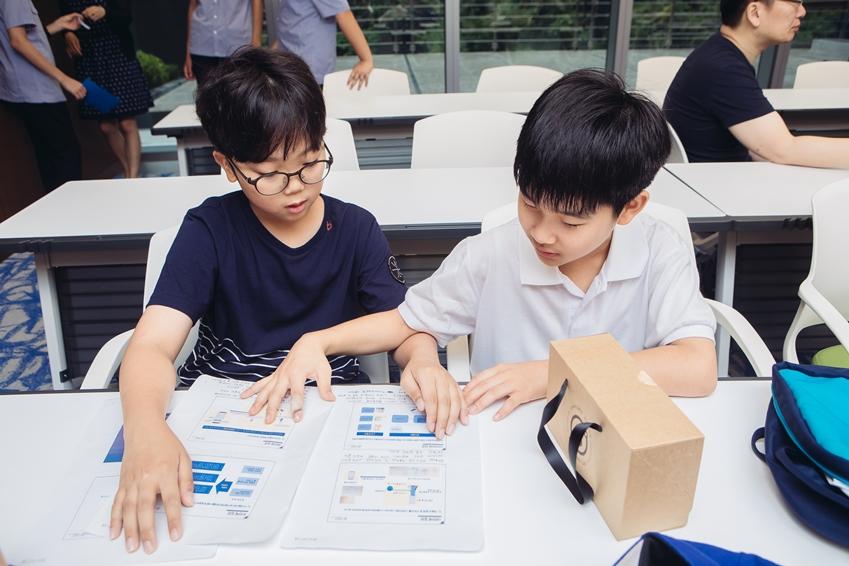 주니어소프트웨어창작대회 참가한 아이들