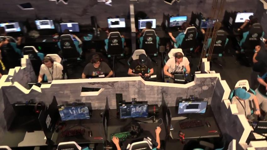 ▲배틀그라운드 인비테이셔널 대회에서는 삼성 CFG73 모니터가 사용되었다