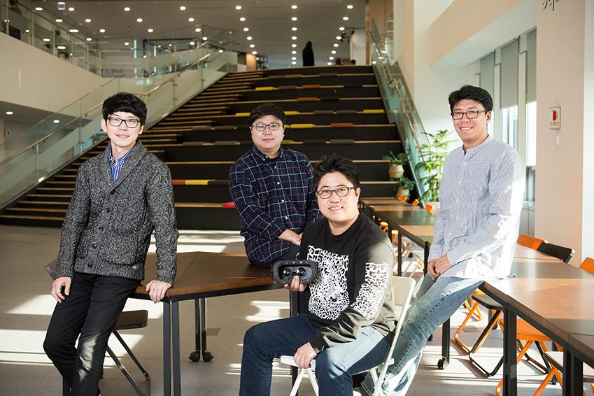 ▲ '링크페이스'의 유재봉, 강혁, 홍덕기, 임경수 씨(왼쪽부터)가 포즈를 취하고 있다