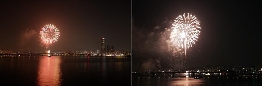 갤럭시 노트8로 촬영한 불꽃놀이 사진