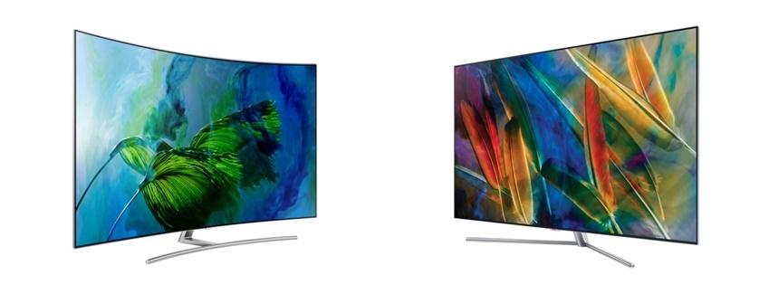 ▲삼성 QLED TV Q8 (왼쪽)과 Q7(오른쪽)