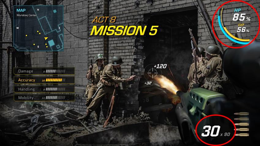 게이밍 모니터 속 FPS 게임