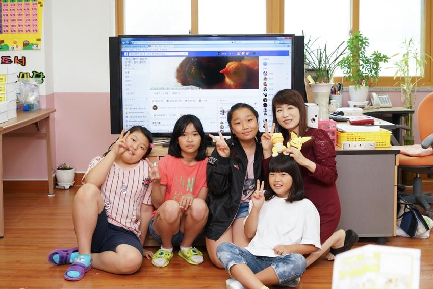 귀둔초등학교 선생님과 아이들