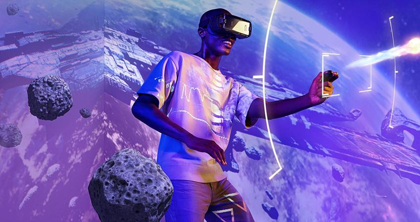 AR, VR 시연하는 모습